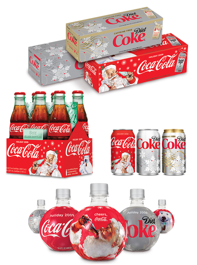 Coca-Cola Holiday packaging 2009